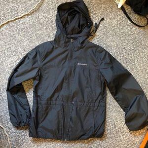 Columbia black raincoat